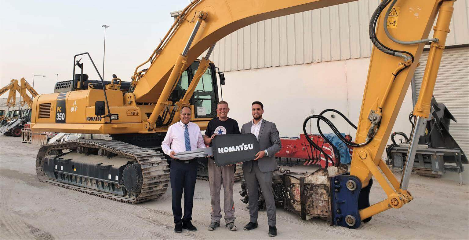 Jaidah Group delivers the Komatsu PC350-8M0<