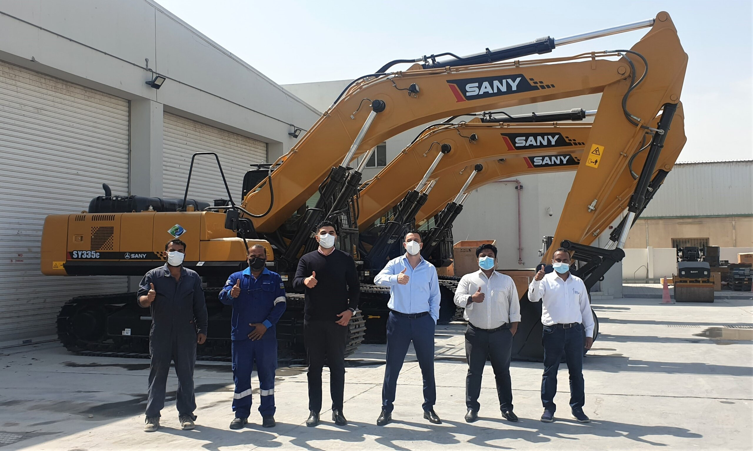 Jaidah Group delivers 6 units of the new #SANY 34 ton excavators to a key cus...<